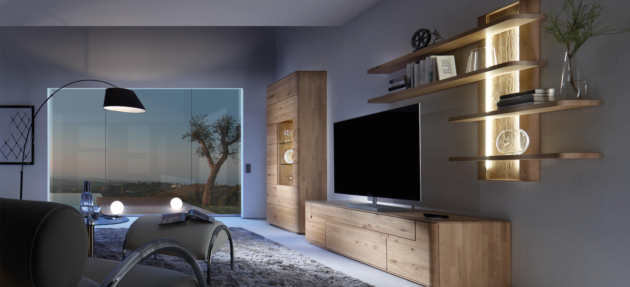 intenso wohnzimmmer m bel decker massivholzm bel. Black Bedroom Furniture Sets. Home Design Ideas