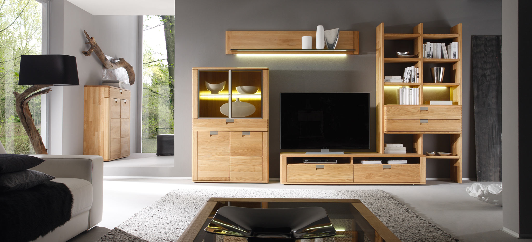 valenza massivholztisch sideboard auf. Black Bedroom Furniture Sets. Home Design Ideas
